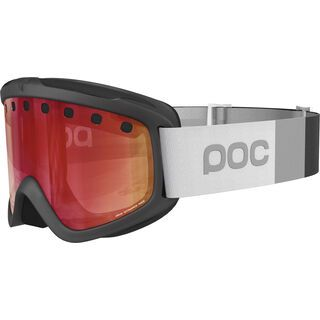 POC Iris Stripes, uranium black/Lens: persimmon red mirror - Skibrille