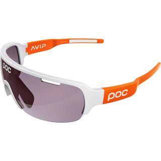POC DO Half Blade AVIP, hydrogen white/zink orange/Lens: violet/light silver - Sportbrille