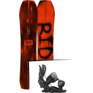Set: Ride Warpig Large 2017 + Flow Fuse 2016, black - Snowboardset