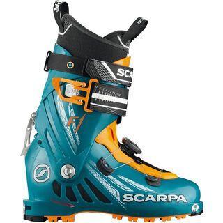 Scarpa F1 2018, petrol blue/orange - Skiboots