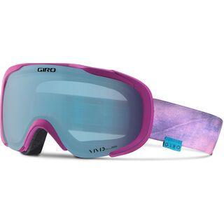 Giro Field, berry stonewashed/Lens: vivid royal - Skibrille