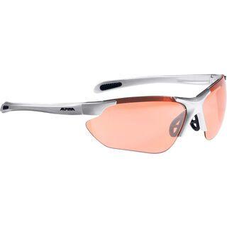 Alpina Jalix, silver black/Lens: orange mirror - Sportbrille