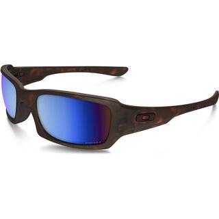 Oakley Fives Squared Prizm Deep Water Polarized, matte tortoise - Sonnenbrille