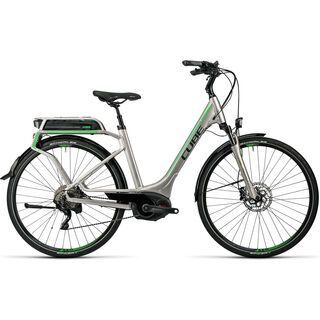 Cube Touring Hybrid Pro 500 Easy Entry 2016, silver´n´flashgreen - E-Bike