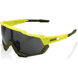 100% Speedtrap, soft tact banana/Lens: black mir - Sportbrille