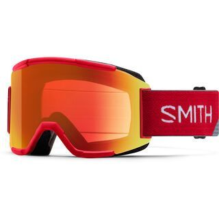 Smith Squad inkl. Wechselscheibe, fire split/Lens: everyday red mirror chromapop - Skibrille