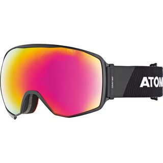 Atomic Count 360° HD RS + WS, black/white/Lens: red stereo hd - Skibrille
