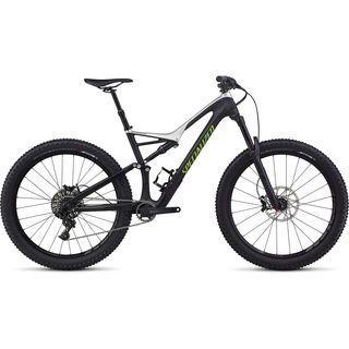 Specialized Stumpjumper FSR Comp Carbon 6Fattie 2017, black/silver/mo green - Mountainbike