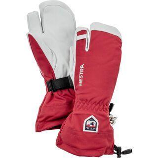 Hestra Army Leather Heli Ski 3 Finger red