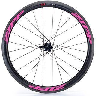 Zipp 303 Firecrest Carbon Clincher, schwarz/pink - Hinterrad