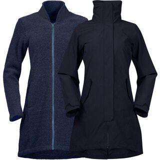 Bergans Oslo 3in1 W Coat, dark navy melange - Mantel