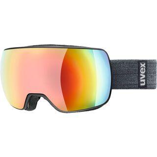 uvex compact FM, black mat/Lens: mirror rainbow - Skibrille