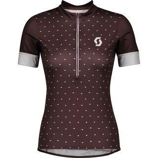 Scott Endurance 20 S/Sl Women's Shirt, maroon red/light grey - Radtrikot