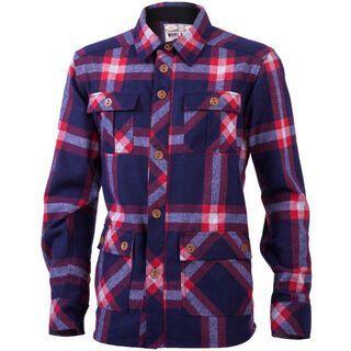Mons Royale Mountain Shirt, navy red check - Hemd