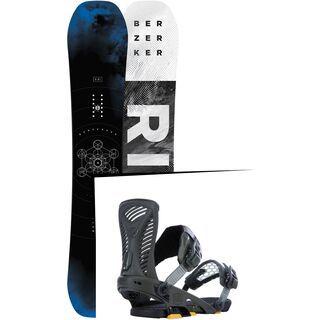 Set: Ride Berzerker 2017 + Ride Capo 2015, matte olive - Snowboardset