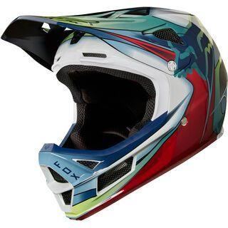 Fox Rampage Pro Carbon Kustom, white/red/black - Fahrradhelm