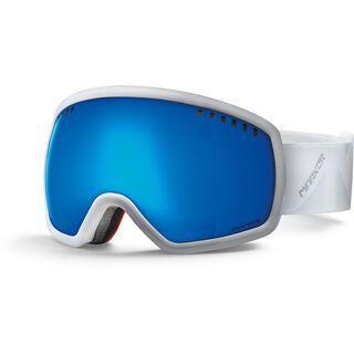 Marker Big Picture Plus inkl. Wechselscheibe, white/Lens: blue hd mirror - Skibrille