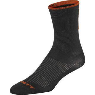 Scott Road Long Sock, black/tangerine orange - Radsocken