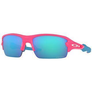 Oakley Flak XS Prizm, neon pink/Lens: prizm sapphire - Sportbrille