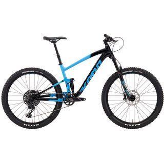 Kona Hei Hei Trail DL 2019, cyan & black w/ white - Mountainbike