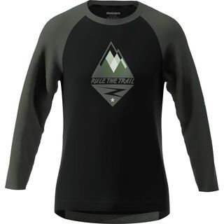 Zimtstern PureFlowz Shirt 3/4, black/metal/green - Radtrikot