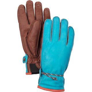 Hestra Wakayama 5 Finger, turquise/brown - Skihandschuhe