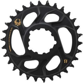SRAM Eagle X-Sync 2 Kettenblatt - 3 mm Offset, black/gold