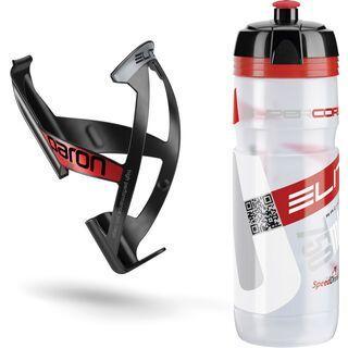 Elite Kit Supercorsa/Paron, clear-rot/schwarz-rot - Flaschenhalter
