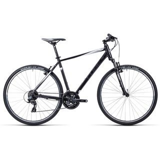 Cube Curve 2015, black white anthrazit - Fitnessbike