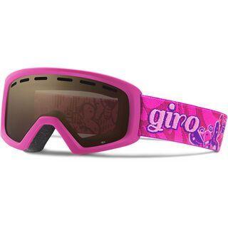 Giro Rev, berry butterflies/Lens: amber rose - Skibrille