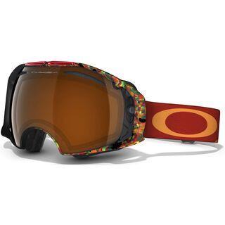 Oakley Airbrake Jake Blauvelt Signature, Equinox Burnt Red/Black Iridium & Persimmon - Skibrille