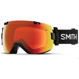 Smith I/OX Turbo Fan inkl. Wechselscheibe, black/Lens: everyday red mirror chromapop - Skibrille