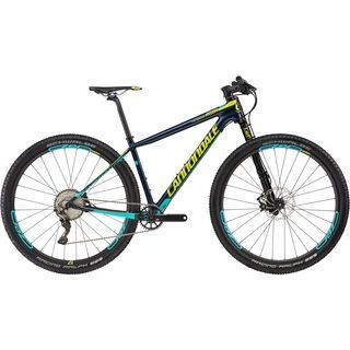 Cannondale F-SI Carbon 2 29 2017, black/neon spring/turquoise - Mountainbike