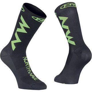 Northwave Extreme Air Socks, black/lime fluo - Radsocken