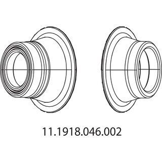 Zipp Conversion Caps für Nabe 177 Disc, hinten - Achsadapter
