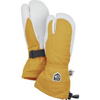 Hestra Heli Ski Female 3 Finger, mustard/offwhite - Skihandschuhe