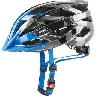 uvex i-vo c, dark silver-blue - Fahrradhelm