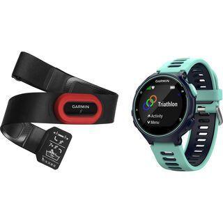 Garmin Forerunner 735XT Run-Bundle, schwarz/frostblau - Triathlonuhr