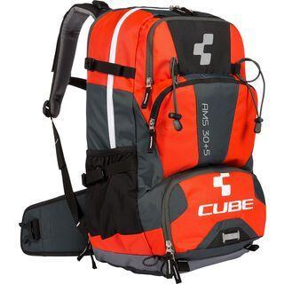 Cube Rucksack AMS 30+5, black´n´flashred - Fahrradrucksack