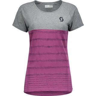 Scott Trail 60 DRI S/SL Women's Shirt, medium grey heather/orchid violet - Radtrikot