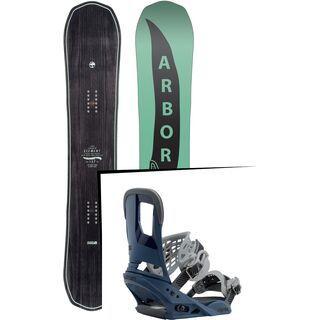 Set: Arbor Element Mid Wide 2017 + Burton Cartel 2017, blue steel - Snowboardset