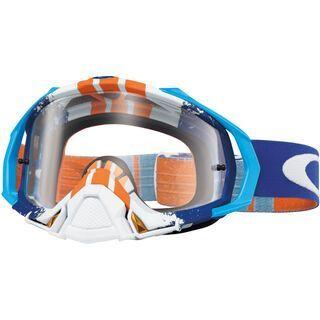 Oakley Mayhem Pro MX, pinned race blue/orange/Lens: clear - MX Brille