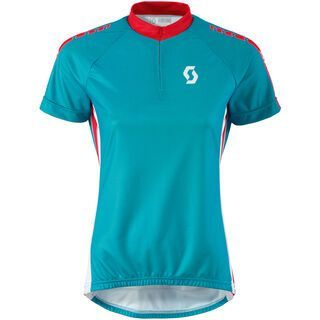 *** 2. Wahl *** Scott Womens Endurance 30 s/sl Shirt, ocean blue/hibiscus red - Radtrikot   Größe M