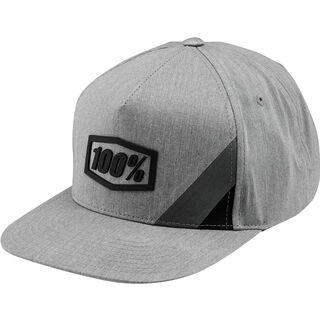 100% Cornerstone Trucker Hat, grey heather / black - Cap