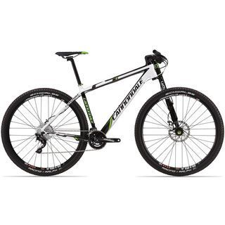 Cannondale F29 Carbon 3 2013, exposed carbon w/ magnesium white and berserker green accents gloss - Mountainbike