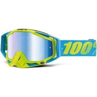 100% Racecraft inkl. Wechselscheibe, bardados/Lens: mirror blue - MX Brille