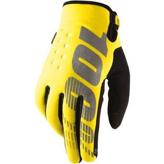 100% Brisker Cold Weather, yellow - Fahrradhandschuhe
