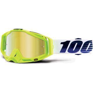 100% Racecraft inkl. WS, gp21/Lens: mirror gold - MX Brille
