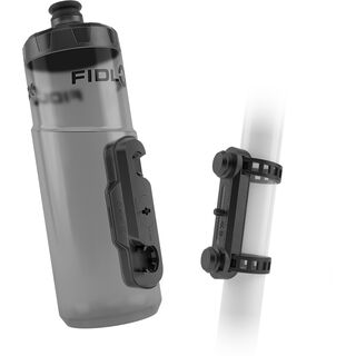 Fidlock Twist Bottle 600 + Uni Base, transparent black - Trinkflasche