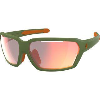 Scott Vector, dark green/Lens: red chrome enh - Sportbrille